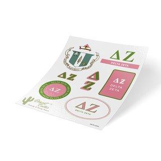 Delta Zeta Traditional Sticker Sheet