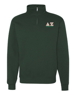 Delta Zeta Twill Greek Lettered Quarter zip