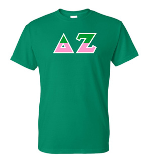 Delta Zeta Two Tone Greek Lettered T-Shirt