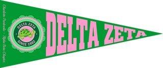 Delta Zeta Wall Pennants