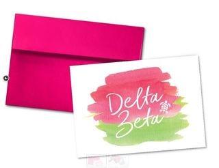 Delta Zeta Watercolor Script Notecards(6)