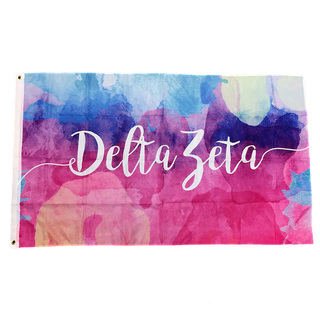 Delta Zeta Watercolor Sorority Flag