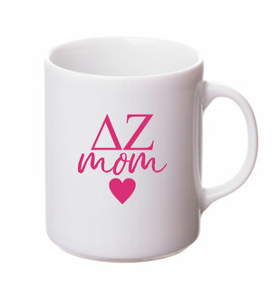 Delta Zeta White Personalized Coffee Mug