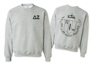 Delta Zeta World Famous Crest - Shield Crewneck Sweatshirt- $25!