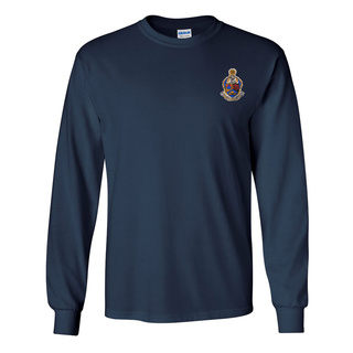 DISCOUNT-Alpha Kappa Psi Fraternity Crest - Shield Longsleeve Tee