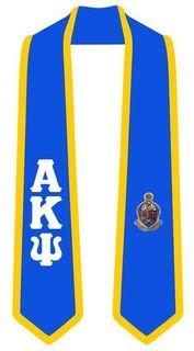 DISCOUNT-Alpha Kappa Psi Greek 2 Tone Lettered Graduation Sash Stole