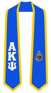 DISCOUNT-Alpha Kappa Psi Greek 2 Tone Lettered Graduation Sash Stole