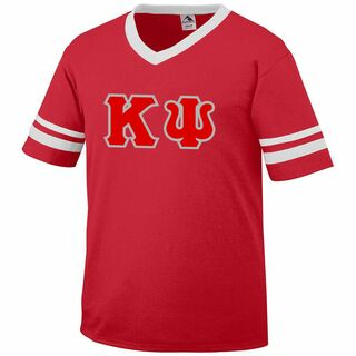 DISCOUNT-Kappa Psi Jersey With Greek Applique Letters