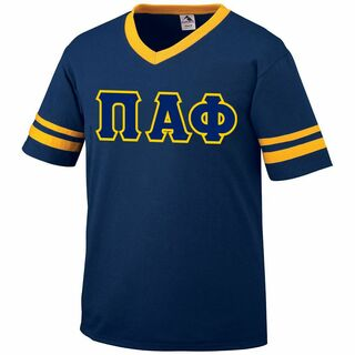 DISCOUNT-Pi Alpha Phi Jersey With Greek Applique Letters