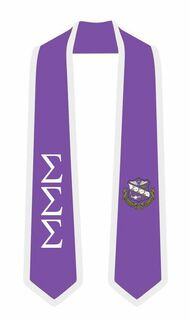 DISCOUNT-Sigma Sigma Sigma Greek 2 Tone Lettered Graduation Sash Stole