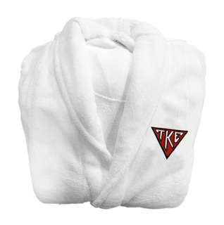 DISCOUNT-Tau Kappa Epsilon House Plate Triangle Bathrobe