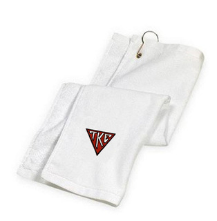 DISCOUNT-Tau Kappa Epsilon House Plate Triangle Golf Towel