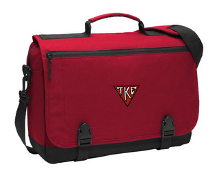 DISCOUNT-Tau Kappa Epsilon House Plate Triangle Messenger Briefcase