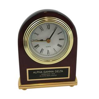 Executive Piano Finished Greek Desk Clock