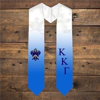 Extra Fancy Diagonal Greek Graduation Stole W Crest