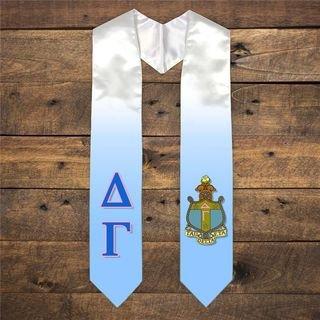 Extra Fancy Simple Greek Graduation Stole W Crest