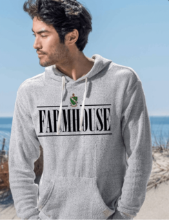 FARMHOUSE Line Crest Lucas Loop Fleece Hood