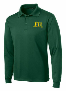 FarmHouse Fraternity- $35 World Famous Long Sleeve Dry Fit Polo
