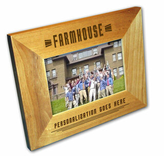 "FarmHouse Fraternity 4"" x 6"" Stripes  Custom Picture Frame"