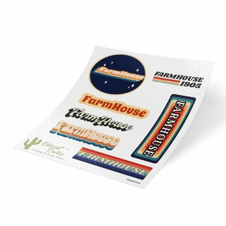 FARMHOUSE 70's Sticker Sheet