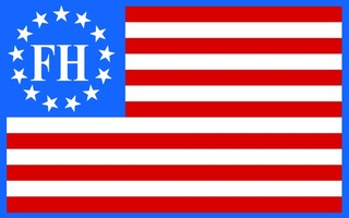 FarmHouse Fraternity American Flag Sticker