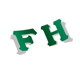 FarmHouse Fraternity Big Greek Letter Window Sticker Decal