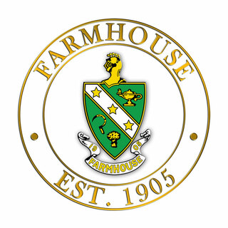 FarmHouse Fraternity Circle Crest - Shield Decal