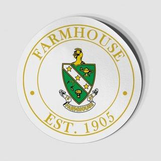 FarmHouse Fraternity Circle Crest - Shield Decal