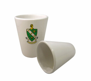 FarmHouse Fraternity Crest Ceramic Collectors Glass