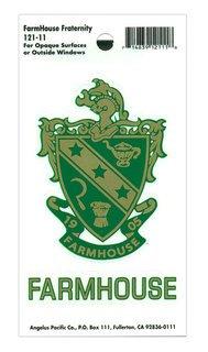 FarmHouse Fraternity Crest - Shield Decal