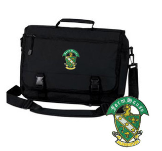 FarmHouse Fraternity Crest Greek Expandable Briefcase