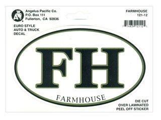 FarmHouse Fraternity Euro Decal Oval Sticker