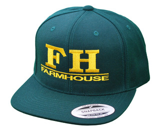 FarmHouse Fraternity Flatbill Snapback Hats Original