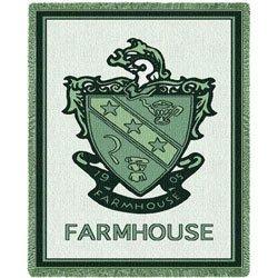 FarmHouse Fraternity Afghan Blanket Throw