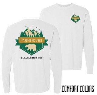 FarmHouse Fraternity Big Bear Long Sleeve T-shirt - Comfort Colors