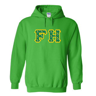 FARMHOUSE Fraternity Crest - Shield Twill Letter Hooded Sweatshirt