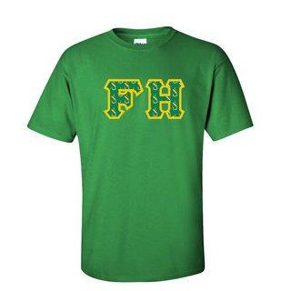 FARMHOUSE Fraternity Crest - Shield Twill Letter Tee