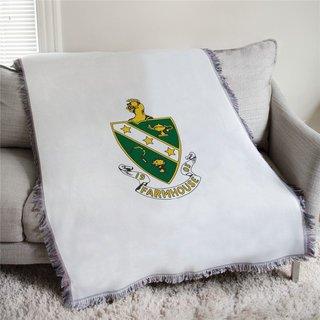 FARMHOUSE Full Color Crest Afghan Blanket Throw
