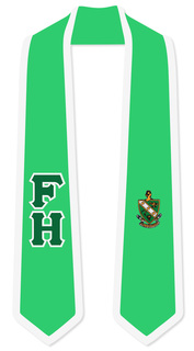 FARMHOUSE Greek 2 Tone Lettered Graduation Sash Stole