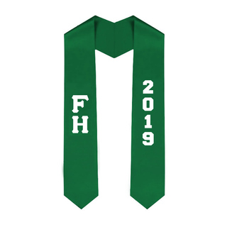 FARMHOUSE Greek Lettered Graduation Sash Stole With Year - Best Value