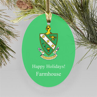 FarmHouse Fraternity Holiday Color Crest - Shield Ornament
