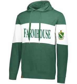 FARMHOUSE Ivy League Hoodie W Crest On Left Sleeve