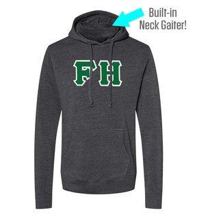 FARMHOUSE Lettered Gaiter Fleece Hooded Sweatshirt