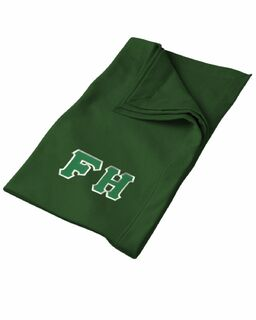 DISCOUNT-FarmHouse Fraternity Lettered Twill Sweatshirt Blanket