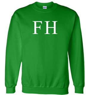 FarmHouse Fraternity Lettered World Famous $19.95 Greek Crewneck