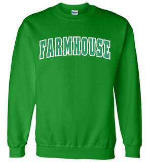 FarmHouse Fraternity Letterman Twill Crew