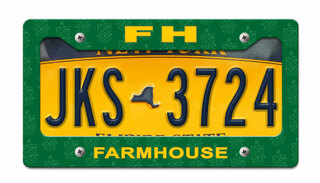 FarmHouse Fraternity License Plate Frame