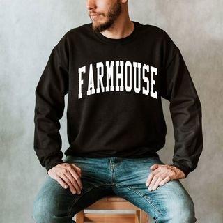 FARMHOUSE Arched Letter Crewneck Sweatshirt