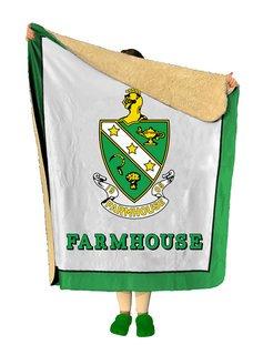 FARMHOUSE Sherpa Lap Blanket