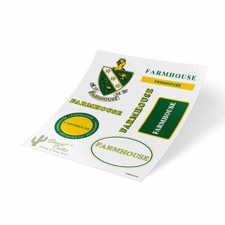 FARMHOUSE Traditional Sticker Sheet